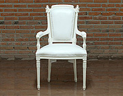 White Armchair Glamour 757 leatherette