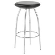 Bernie Counter Stool-Black-Chrome