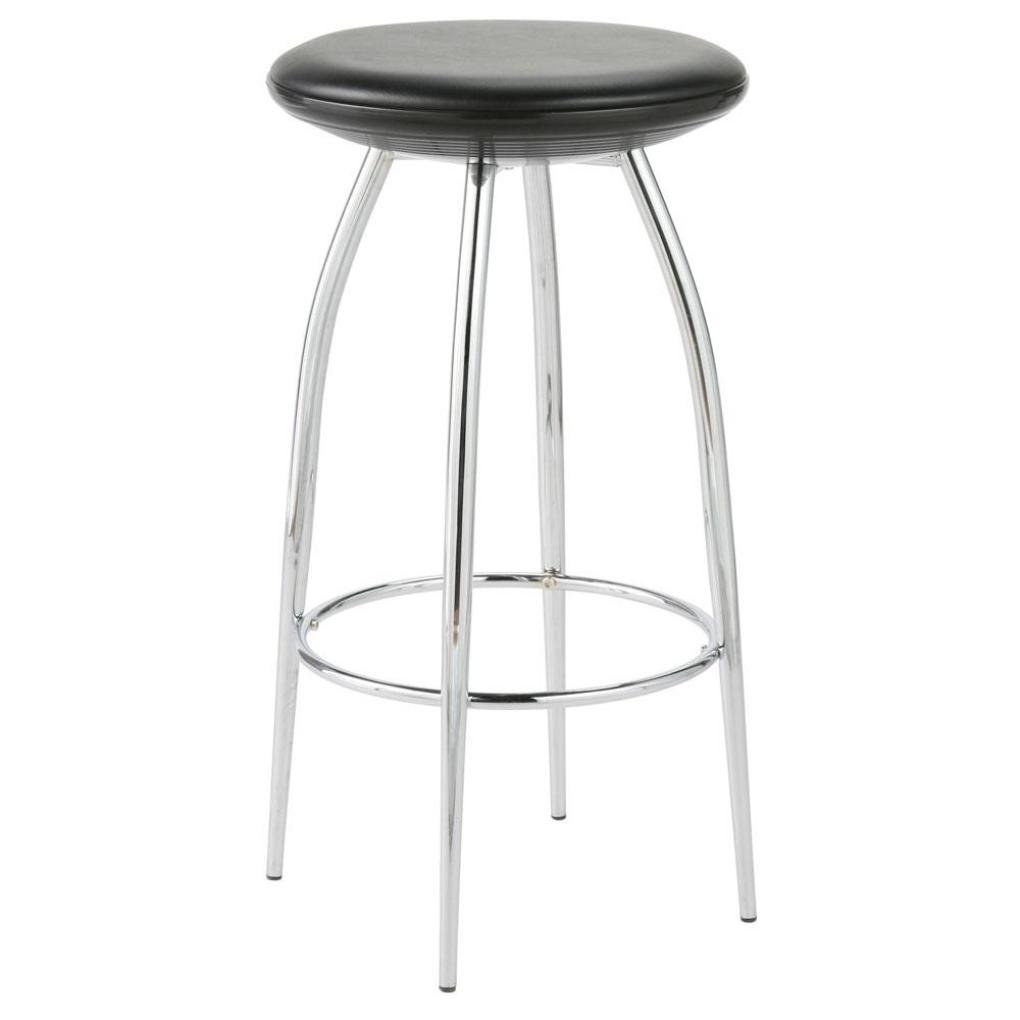 Chrome Bar Stools ~ Bernie counter stool black chrome bar stools