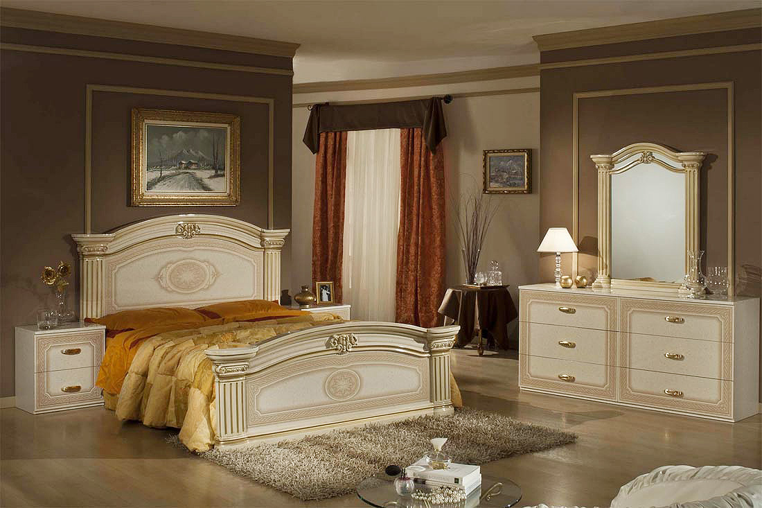 Classic Bed Set Messina Vg Classic Bedroom