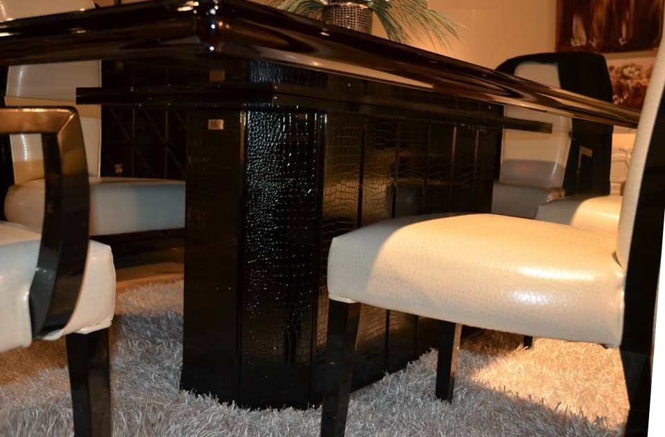 Luxury Black Crocodile Dining Table VG 32 Modern Dining : marcella b2 from www.avetexfurniture.com size 961 x 632 jpeg 56kB
