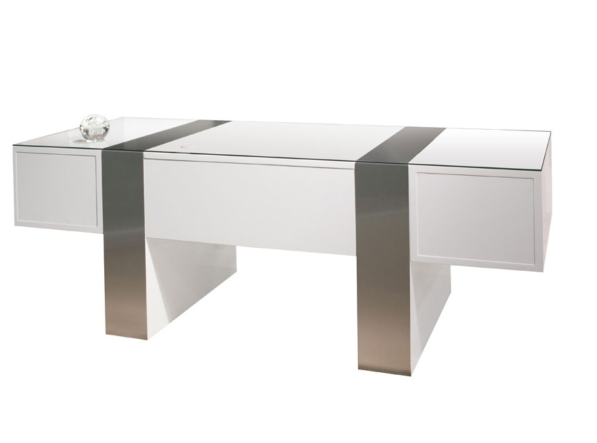 Sh01 White Lacquer Desk | Executive