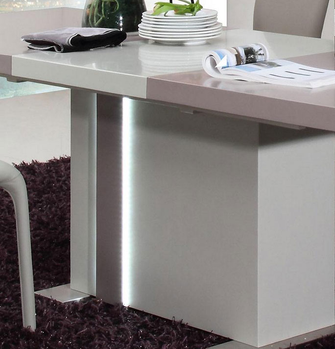 extendable modern dining table vg43 | modern dining
