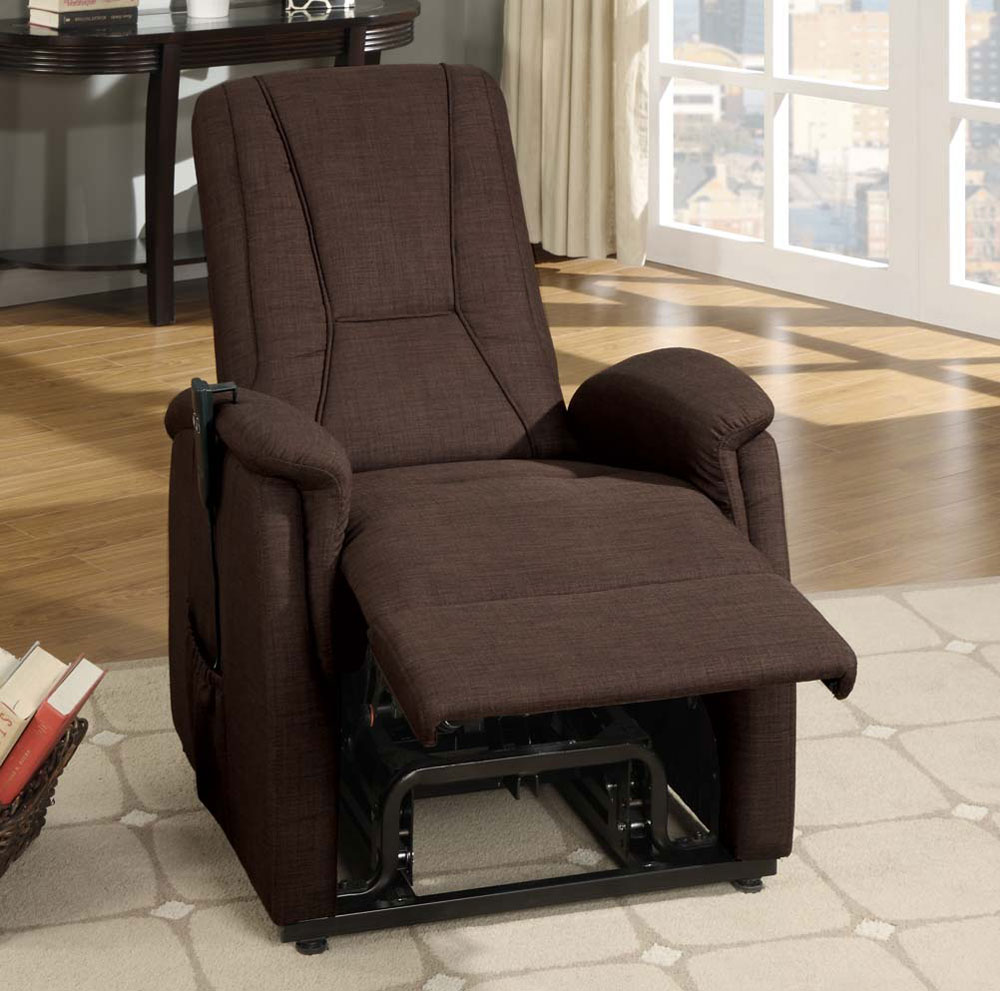 Dark Brown Fabric Power Lift Chair ... & Dark Brown Fabric Power Lift Chair | Recliners islam-shia.org