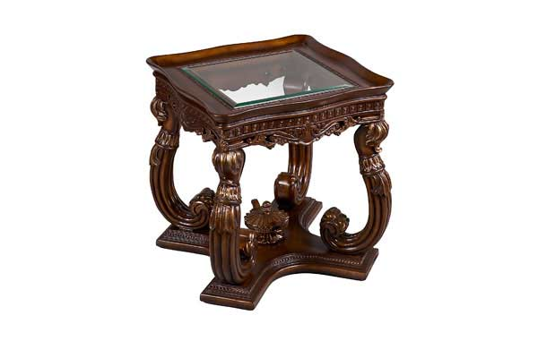 bt 089 traditional mahogany coffee table with glass top | classic