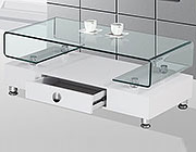 White and glass coffee table BQ35