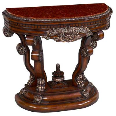 BT 049 Antiqued Dark Cherry Console Sofa Table