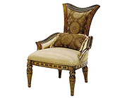 BT 059 Baroque Accent Chair in Walnut Finish