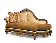 BT 074 Italian Classical Golden Chaise Lounge