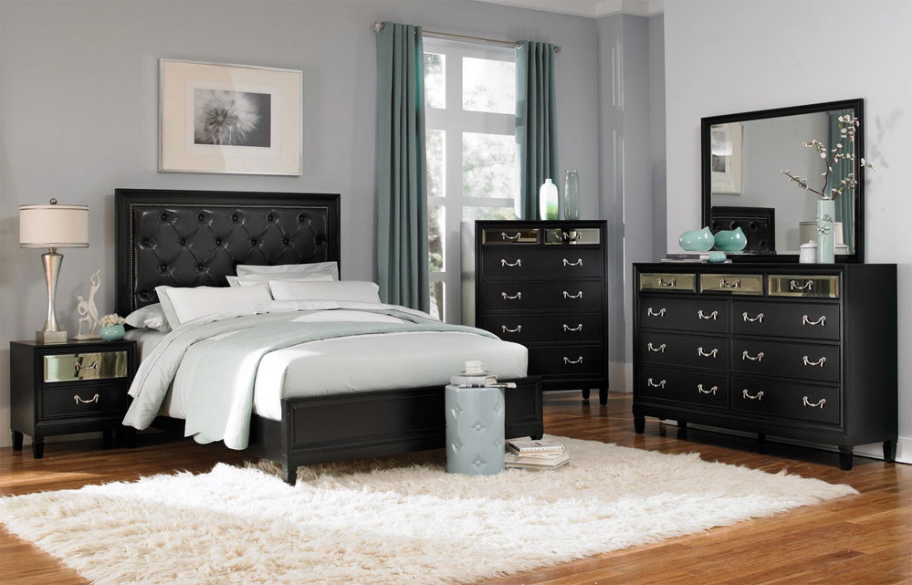 traditional furniture traditional black bedroom. Glamour Black Bed CO121 Traditional Furniture Bedroom