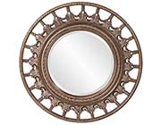 Unique Round Mirror with Antique accents HRE 077