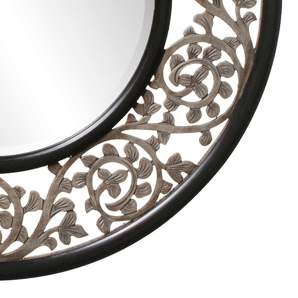 Round Ornate Designer Mirror Hre 095