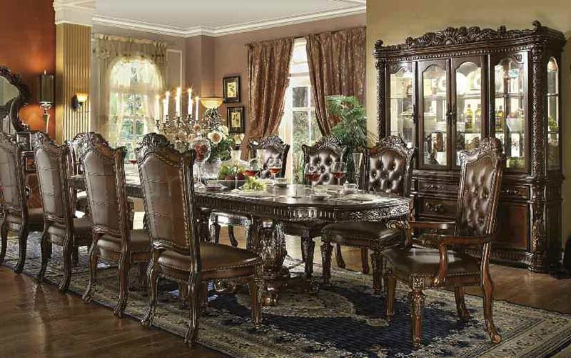 Traditional dining table allesia ac 20 classic dining for Traditional dining table for 8