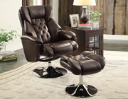 Swivel Reclining Chair with Ottoman HE48