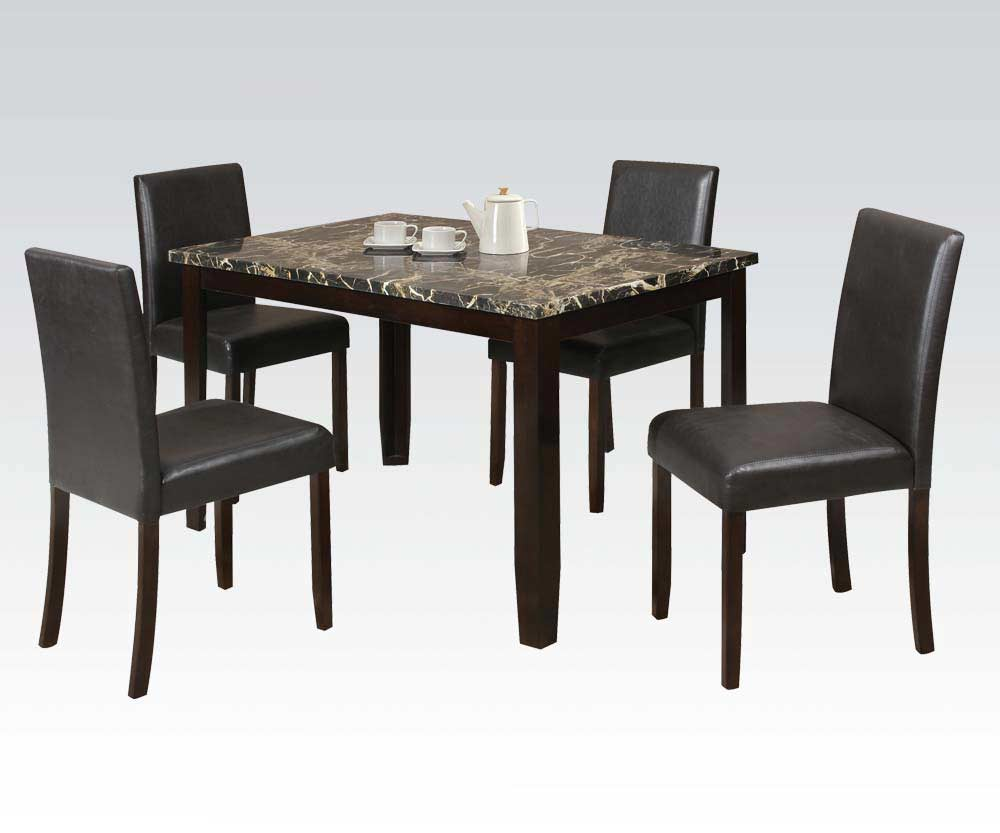Espresso modern dining set emma ac 126 tables chairs for Espresso dining table