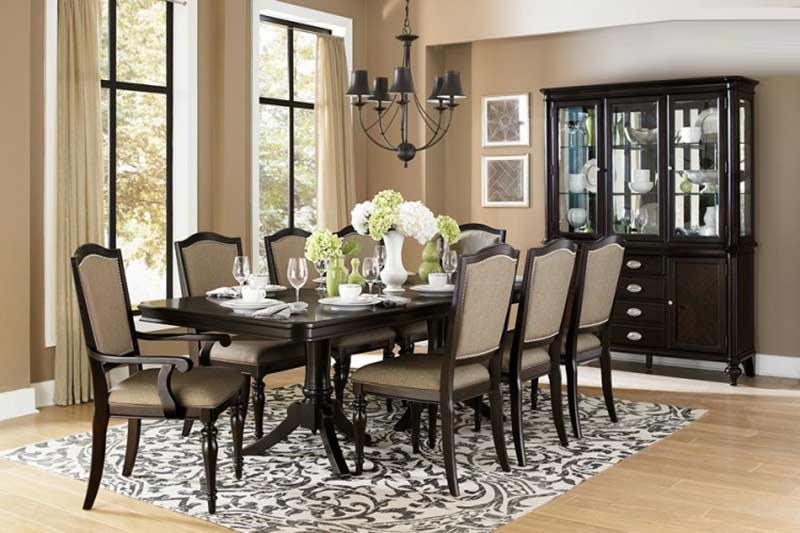 Avilon Double Pedestal Dining Table He 615 Urban Transitional
