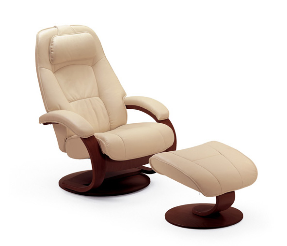 Fjords Admiral Top Grain Leather Small Recliner