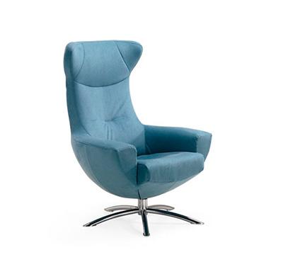 Fjords Baloo Swing Blue Chair By Hjellegjerde Fjords