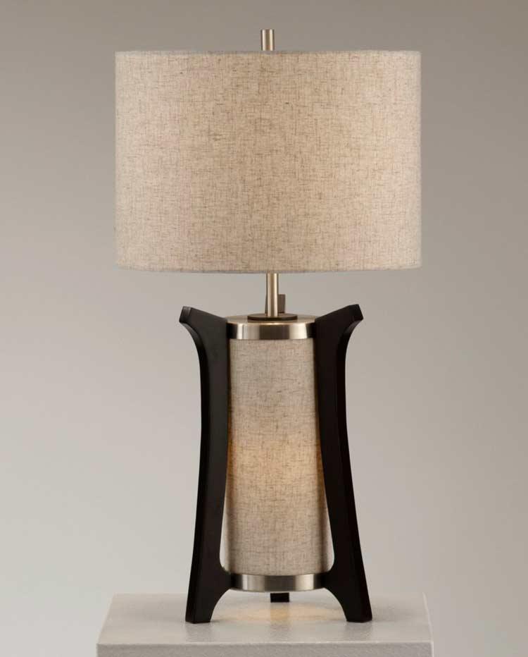 Oatmeal Linen Shade Table Lamp Nl250 Floor Amp Table