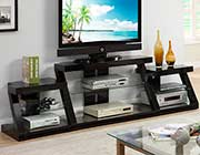 Espresso TV Stand with Tempered Glass PDX440