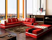 Modern Red Sectional sofa VG012