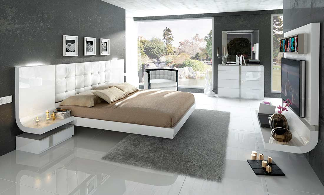 grande modern bedroom set white color modern bedroom