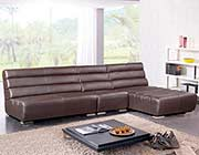 Modern Brown Leather sectional sofa VG996