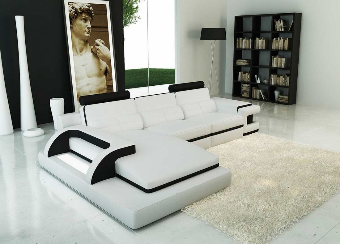 Contemporary Sofa Sectionals White