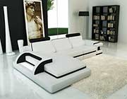 Modern White leather sectional sofa VG122B