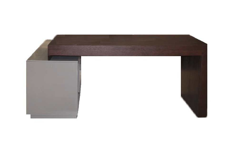 Modern Office Desk Dark Oak Sj5 Desks
