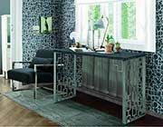 Modern console table with Charcoal Top AR Cloud