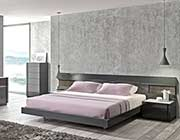 Grey Lacquer Natural wood Bed SJ Barto