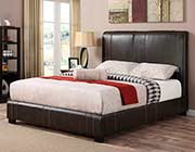 Dark Brown Leatherette Bed CO 123