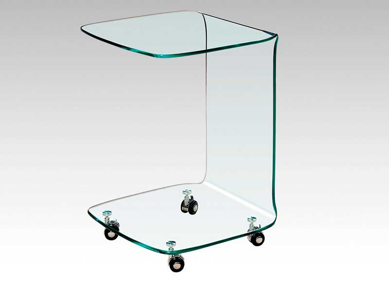 Clear Glass End Table BM004