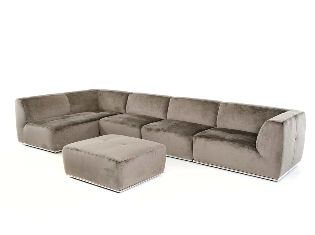 Contemporary grey fabric sectional sofa vg389 fabric for Contemporary sectional sofas