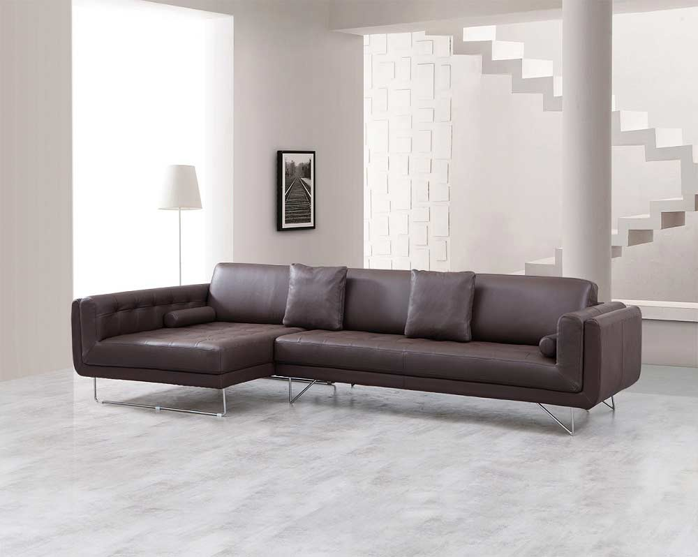 Katherine Espresso Leather Sectional Sofa Leather Sectionals