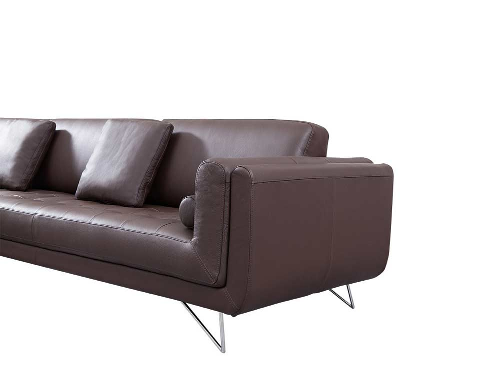 Katherine espresso leather sectional sofa leather sectionals for Italian leather sofa