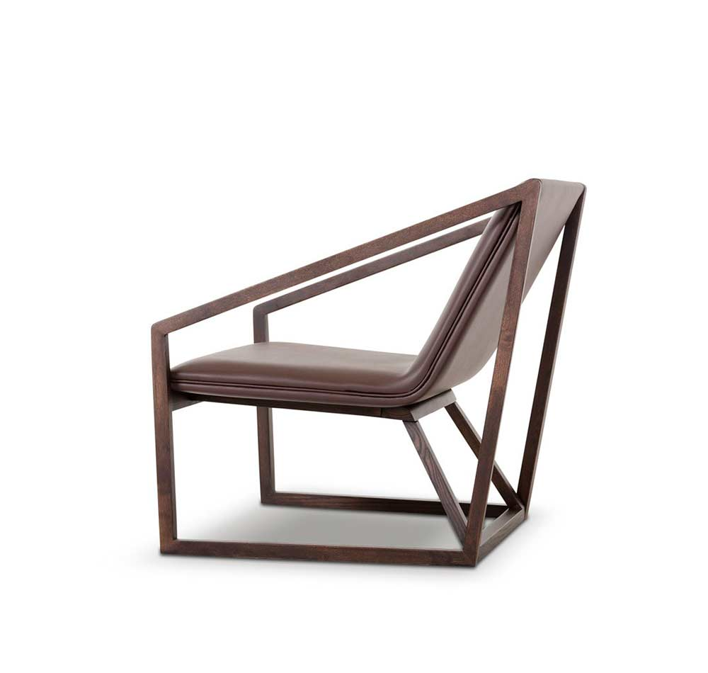 Modern brown eco leather lounge chair vg511 accent seating for Modern leather lounge chairs