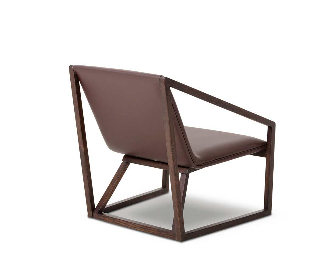 Modern brown eco leather lounge chair vg511 accent seating for Contemporary furniture chairs