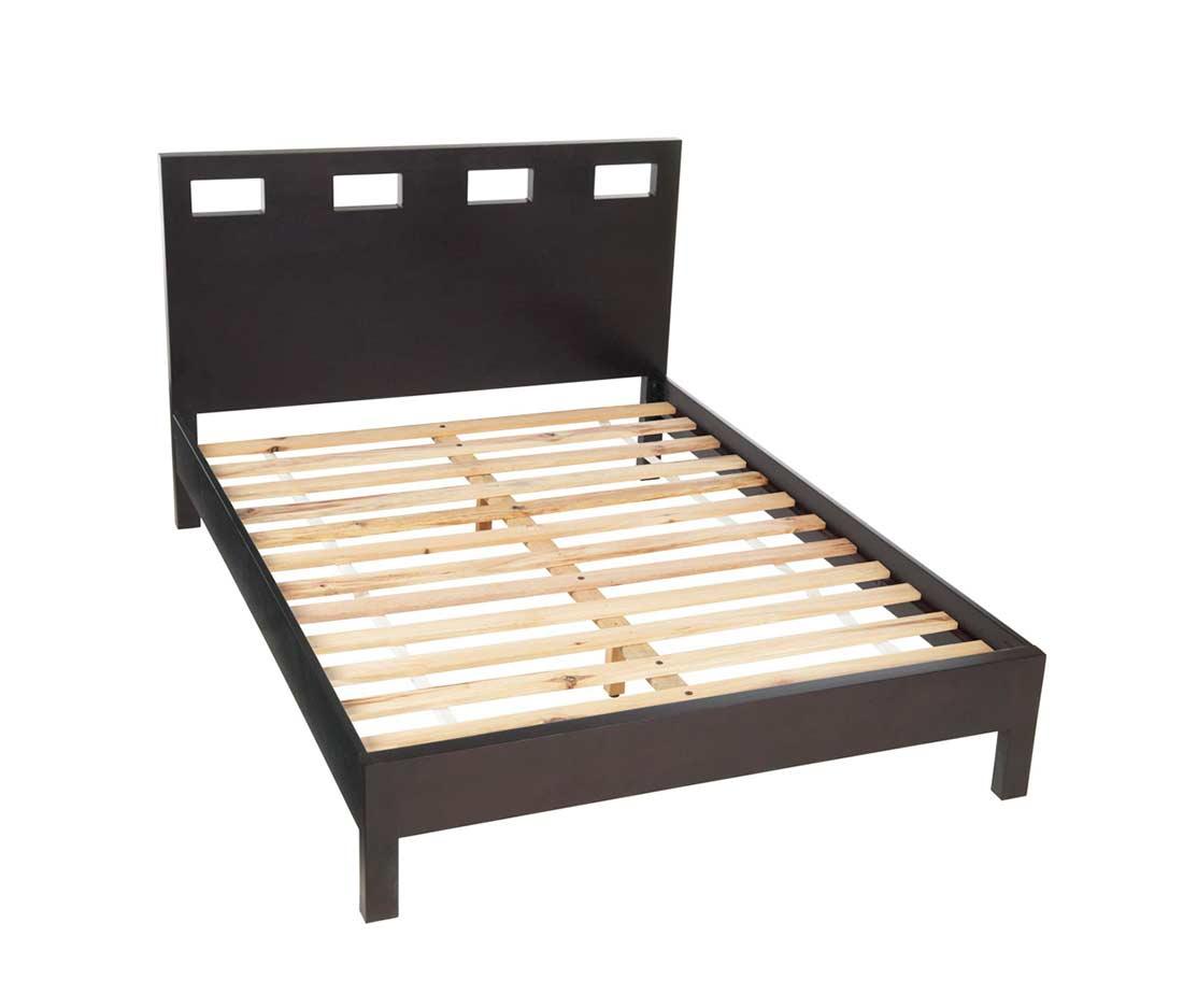Platform espresso bed ms nile 7 platform beds for Platform bed