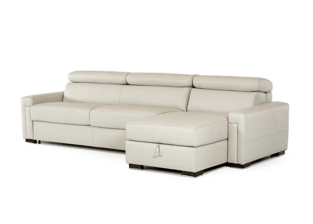Leather Sectional Sofa With Sleeper VG360 Leather Sectionals