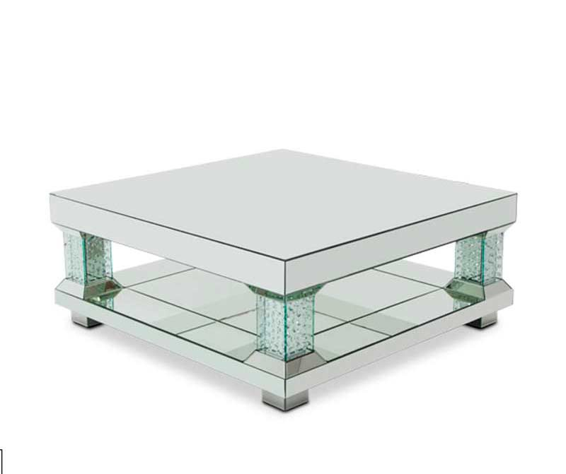 Montreal Mirrored Cocktail Table By Aico Furniture Aico Freestanding Occasional