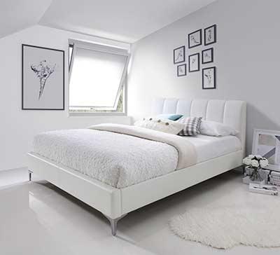 bedroom furniture platform beds white eco pelle bed nj