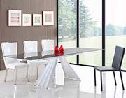 Smoked Glass Extendable Dining Table VG029