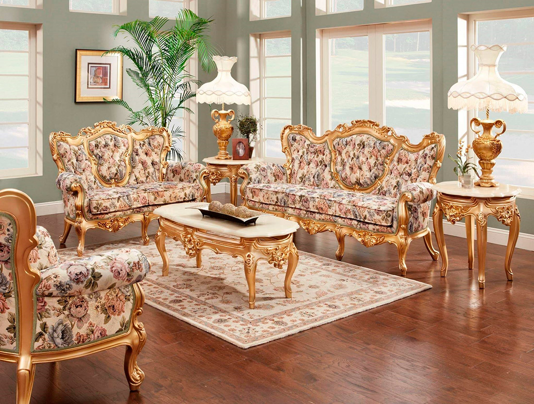 ... French Provincial Sofa 6331 W Gold Finish ...
