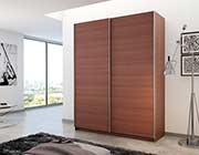 Modern Sliding Wardrobe Irvine in Cherry