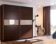 Modern Sliding Wardrobe Nelly in Dark Oak