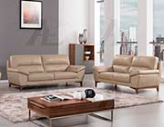 Tan Italian leather sofa AEK 080