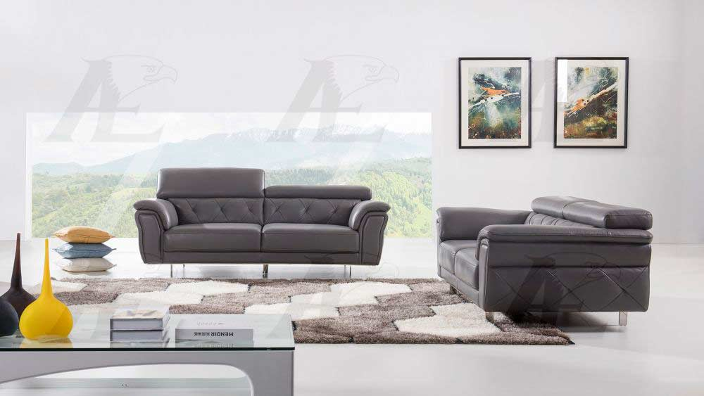Amazing Dark Gray Italian Leather Sofa Aek 68 Leather Sofas Inzonedesignstudio Interior Chair Design Inzonedesignstudiocom