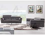Dark Gray Italian leather sofa AEK 68